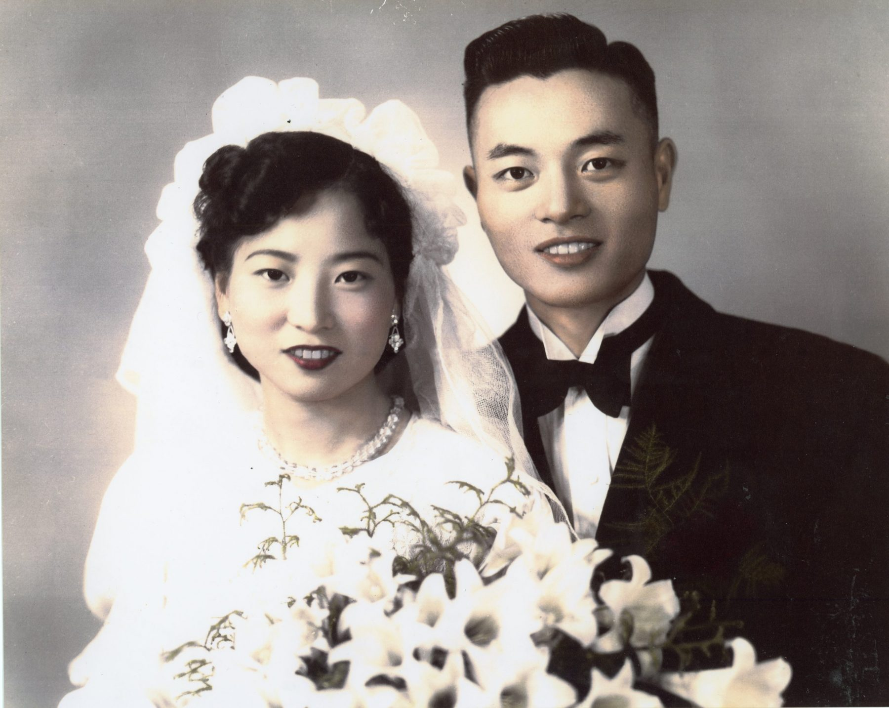 Dr. and Mrs. James S. C. Chao on their wedding day.