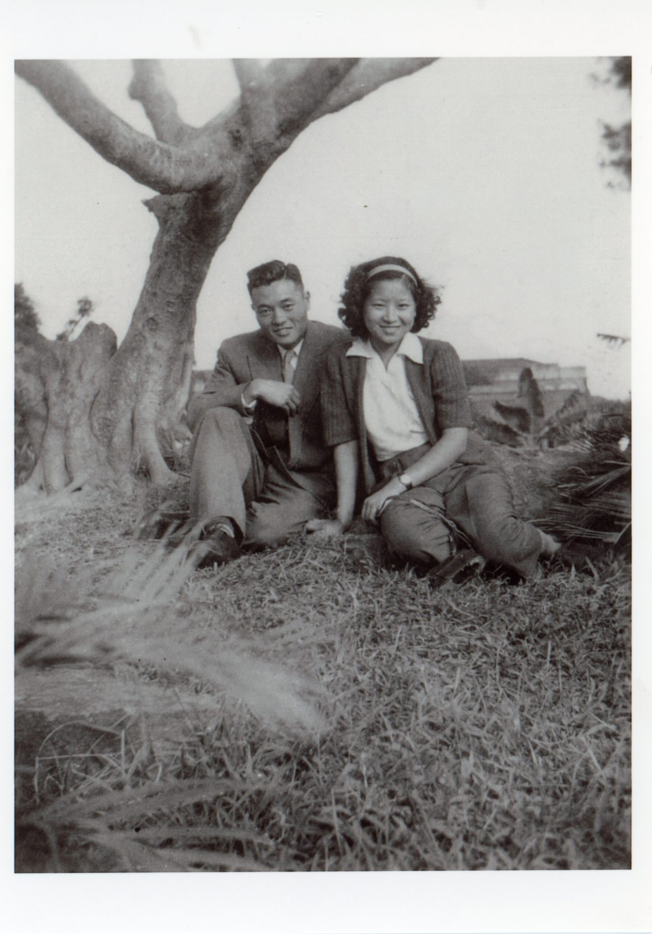 Dr. James S. C. Chao and Ms. Ruth Mulan Chu, during their courtship days in Taipei.