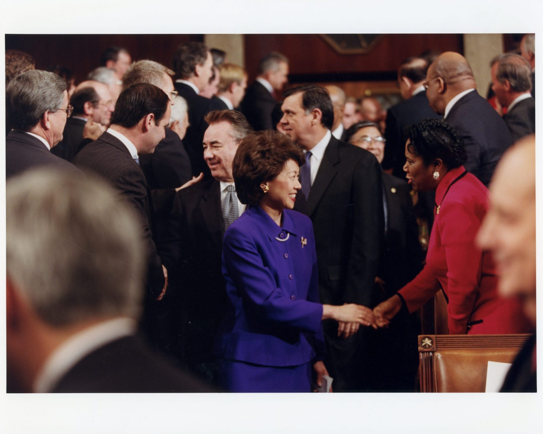 Secretary of Labor Elaine Chao entering House Chambers with the cabinet for the State of the Union Address.