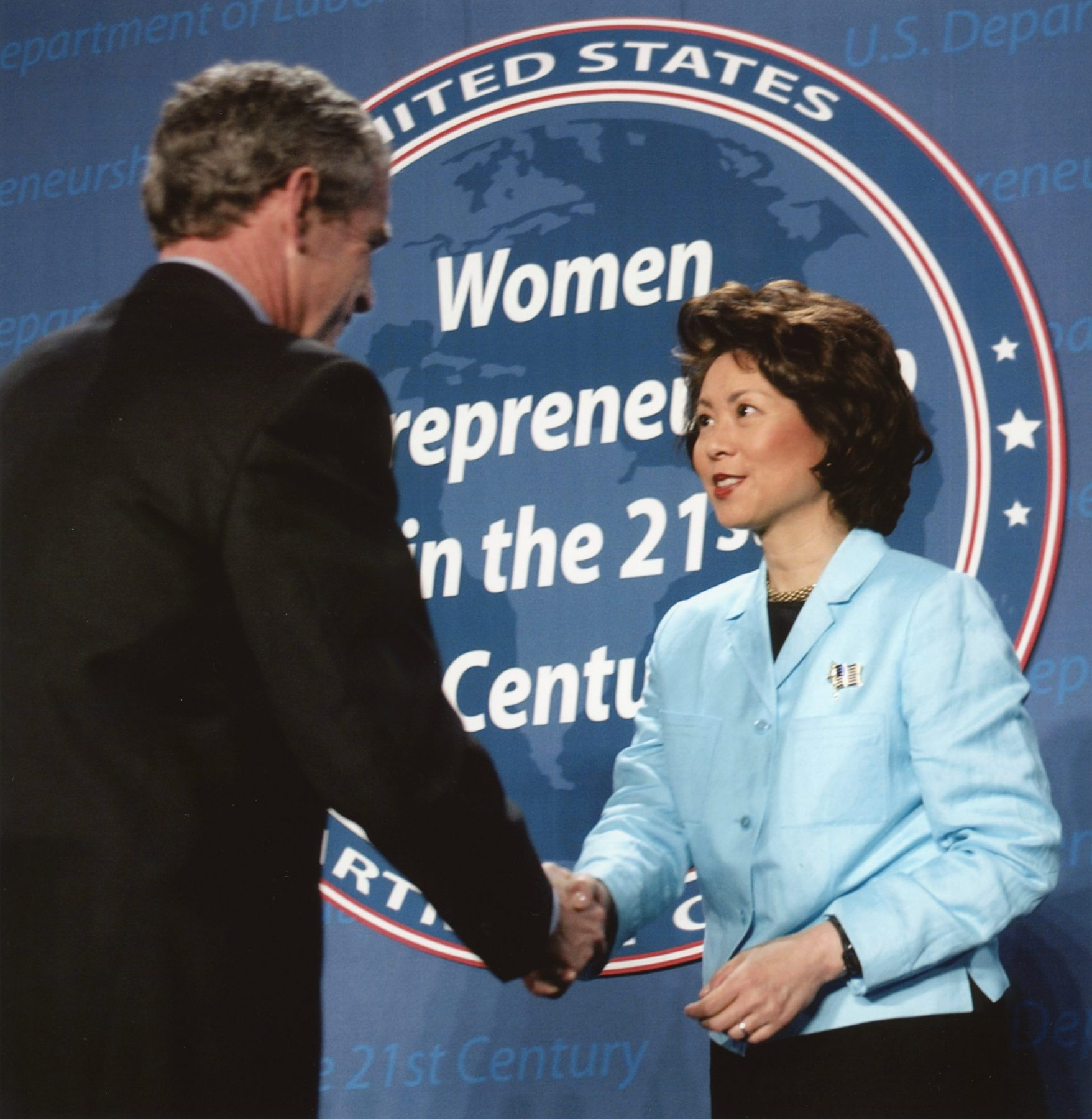Secretary Elaine Chao hosting a Women's Entrepreneurship Summit at the U. S. Department of Labor.