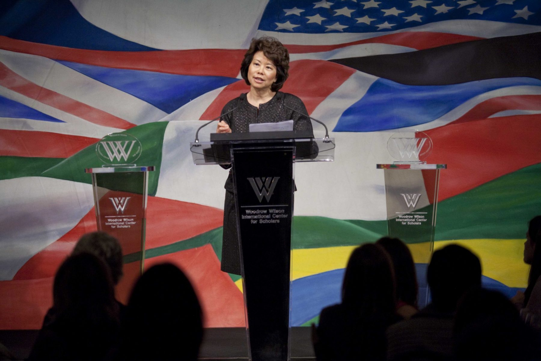 The Woodrow Wilson Center for Public Policy honored The Honorable Elaine Chao with the Woodrow Wilson Distinguished Public Service Award.