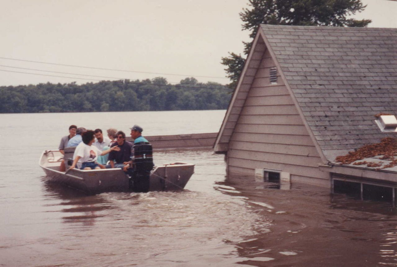 United Way of America President & CEO Elaine Chao visiting sites and victims of a flooding in the Midwest.