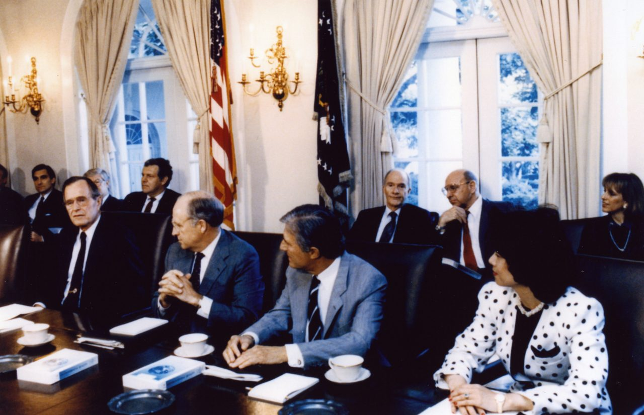 U.S. Deputy Secretary of Transportation Elaine Chao at a cabinet meeting.