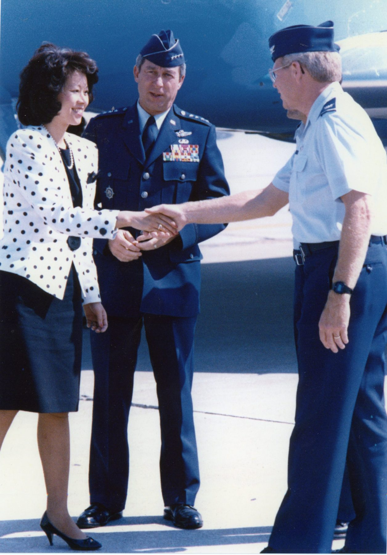 U.S. Deputy Secretary of Transportation Elaine Chao visiting headquarters of U.S. Transportation Command. Scott Air Force Base, Illinois.