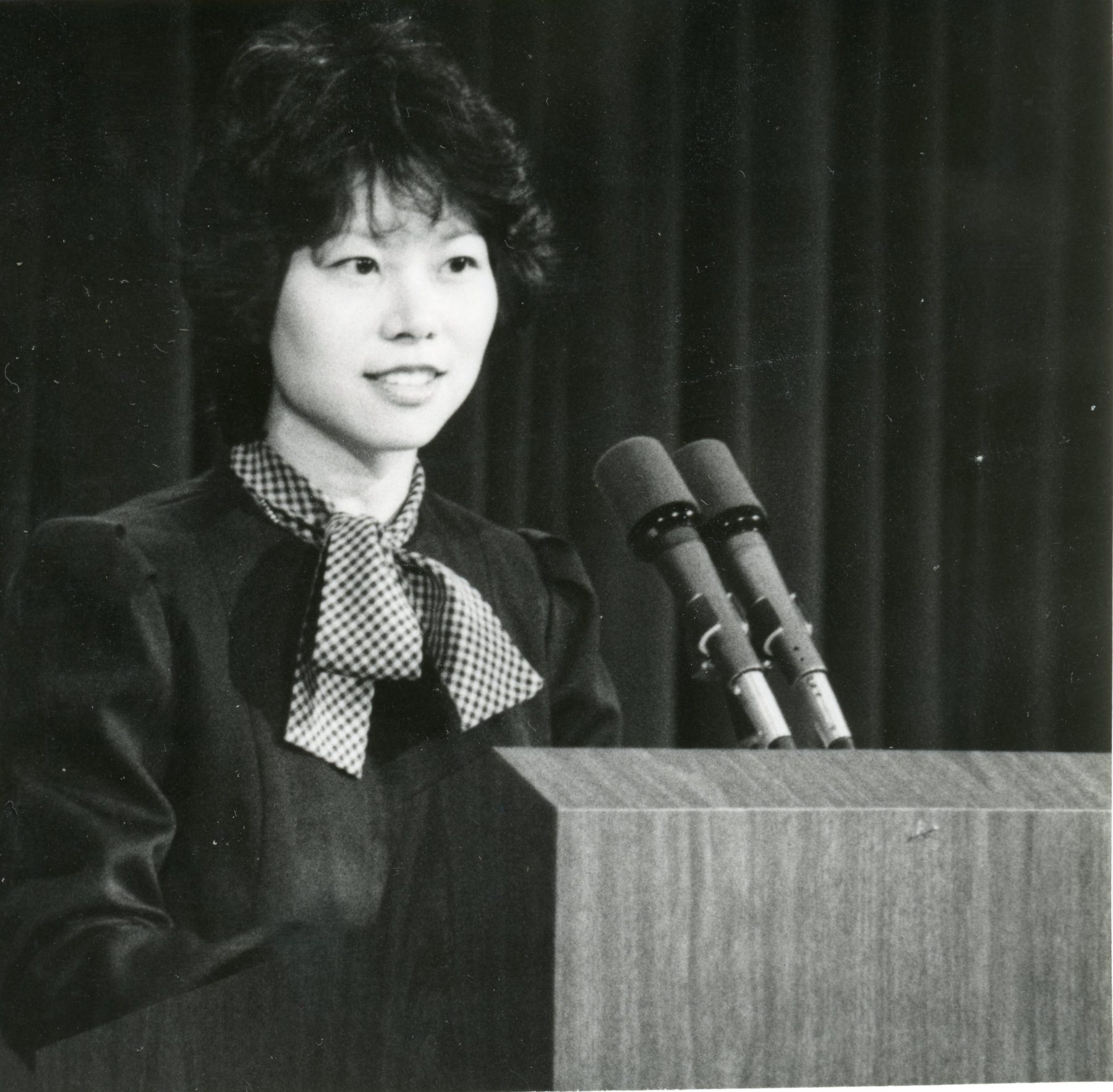 White House Fellow Elaine Chao speaking at a White House event.