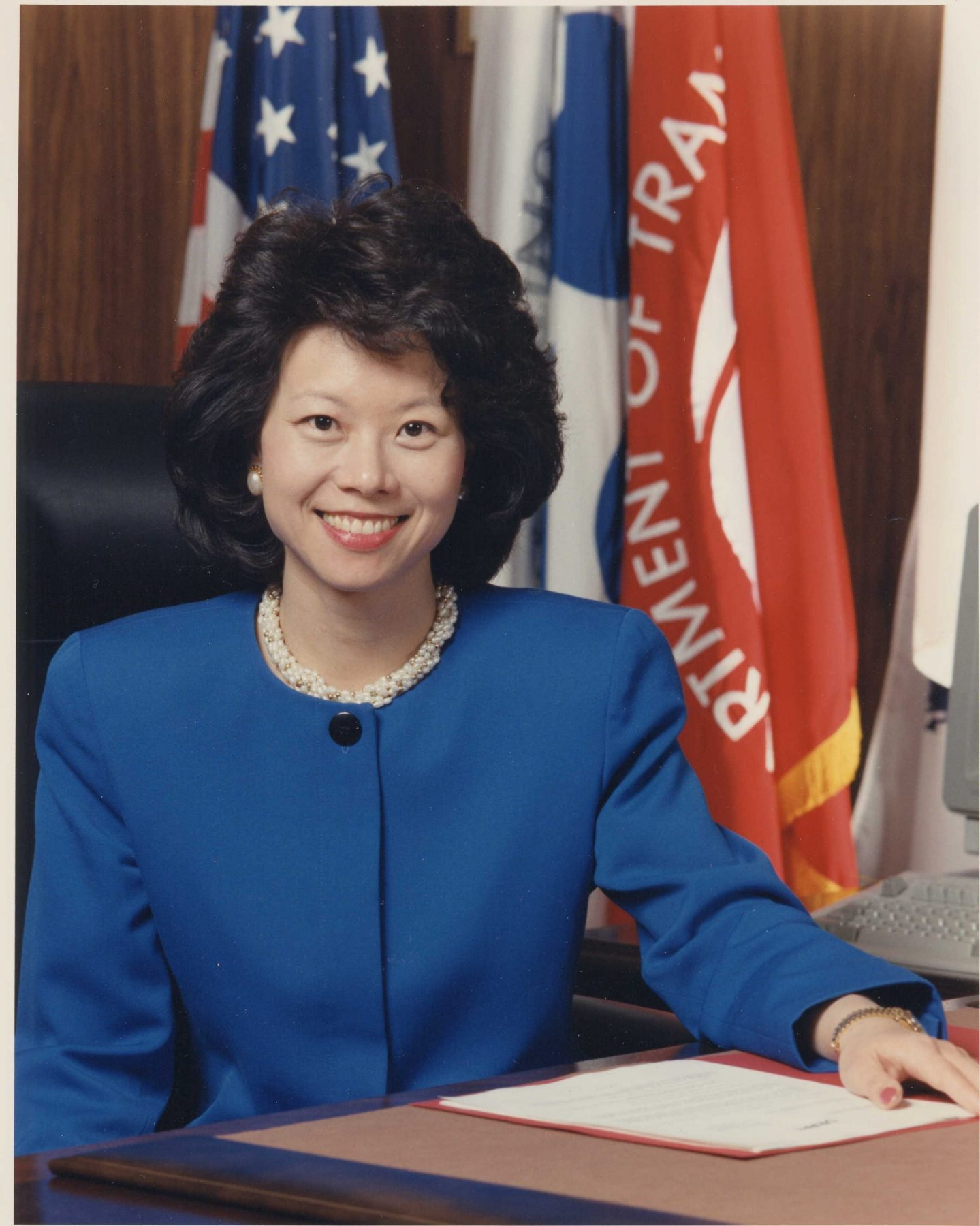 Official portrait of Elaine Chao as U.S. Deputy Secretary of Transportation